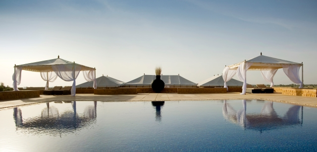 The Pool at The Serai, Luxury Tented Camp near Jaisalmer Fort