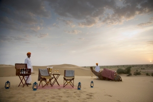 Privacy in the Sand Dunes near The Serai, Jaisalmer