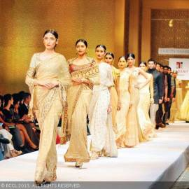 Models showcase Tarun Tahiliani's Autumn / Winter 2013 Collection at Trident, Hyderabad