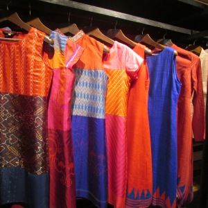 Hand-woven items at Neel Sutra