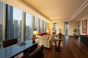 The Living Room of a Luxury Suite at The Oberoi, Dubai