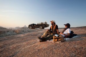 The camp's attentive staff will organise private sun downers at secluded spots