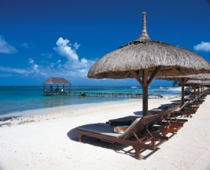 Unwind on The Oberoi, Mauritius's secluded and pristine private beach.