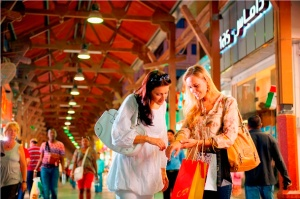 Shoppers at The Dubai Mall