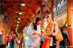 Shoppers at The Dubai Mall