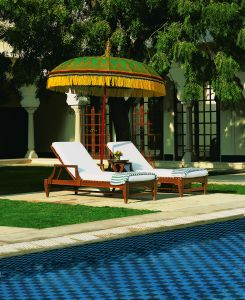 A pool view at The Oberoi Vanyavilas